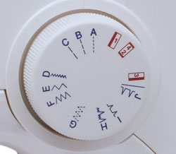Janome 3128 Stitch Selection Dial