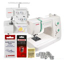 Janome Sewist 500 and Magnolia 7034D 3/4 Serger Package & FREE BONUS