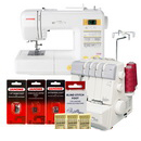 Photo of Janome Magnolia 7330 and MyLock 634D Overlock Serger Combo & FREE BONUS from Heirloom Sewing Supply