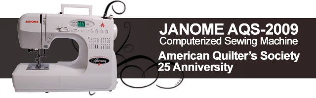 Janome AQS-2009 sewing machine.
