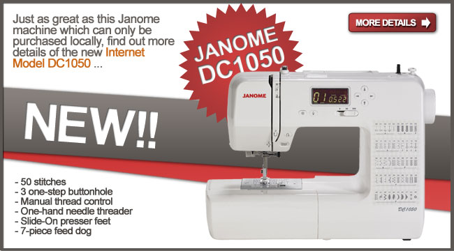 We can ship the Janome DC 1050 to you.
