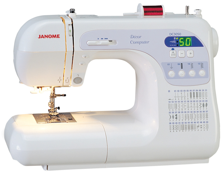 Janome dc3050 fs decor computer sewing machine free 5 for Best home decor sewing machine