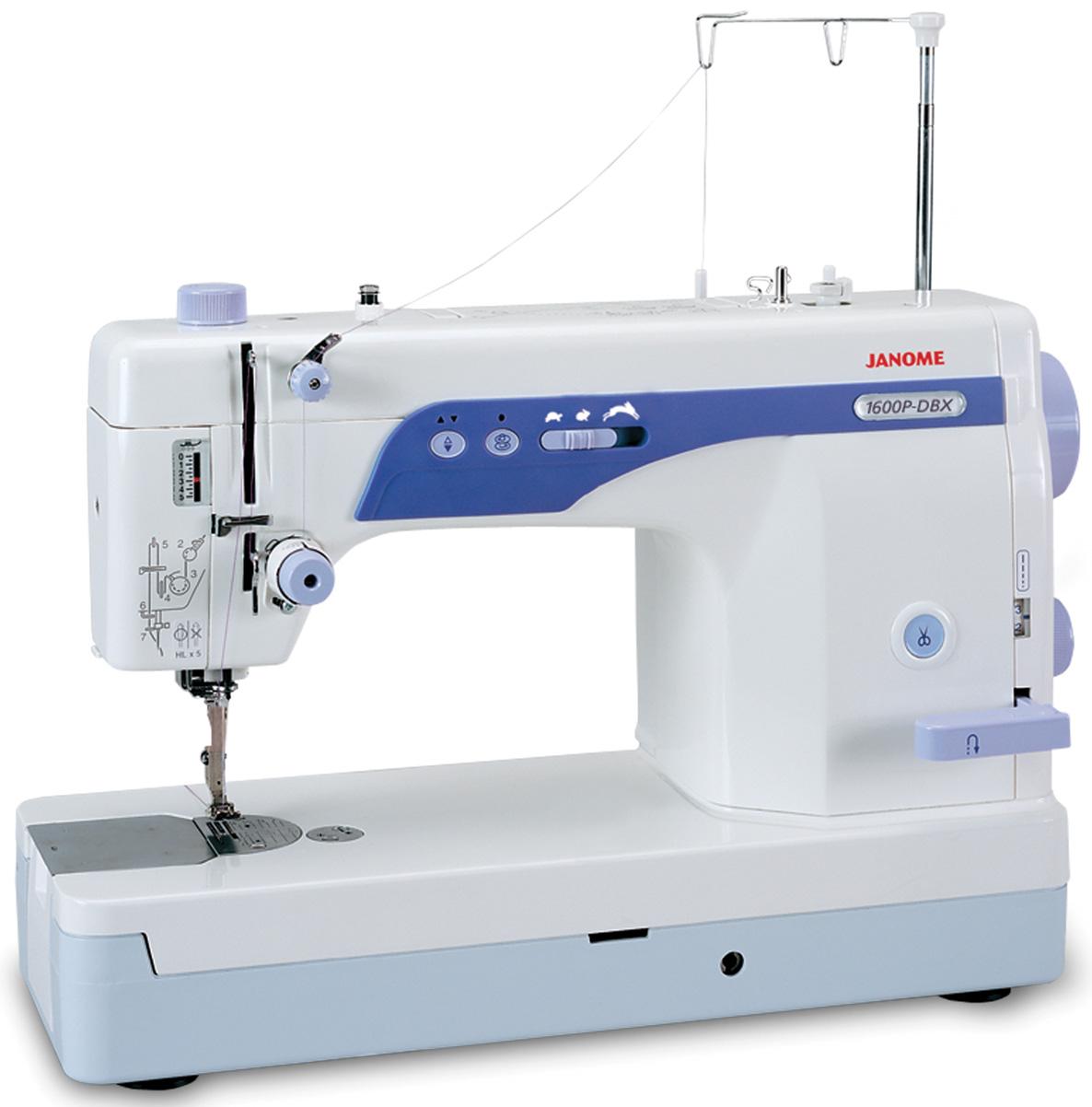 Janome 1600P-DBX High Speed Sewing Machine w/ Sewing Basket, 7 bonus ...