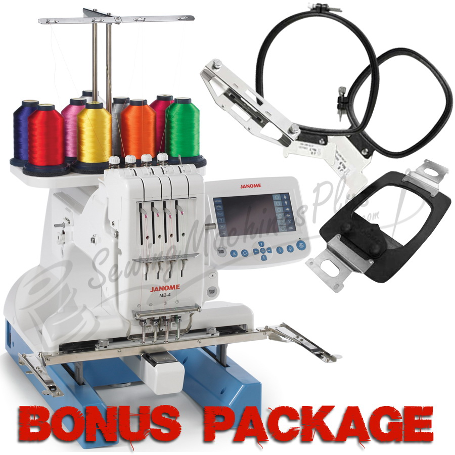 Janome MB-4 Four-Needle Embroidery Machine w/ FREE BONUS