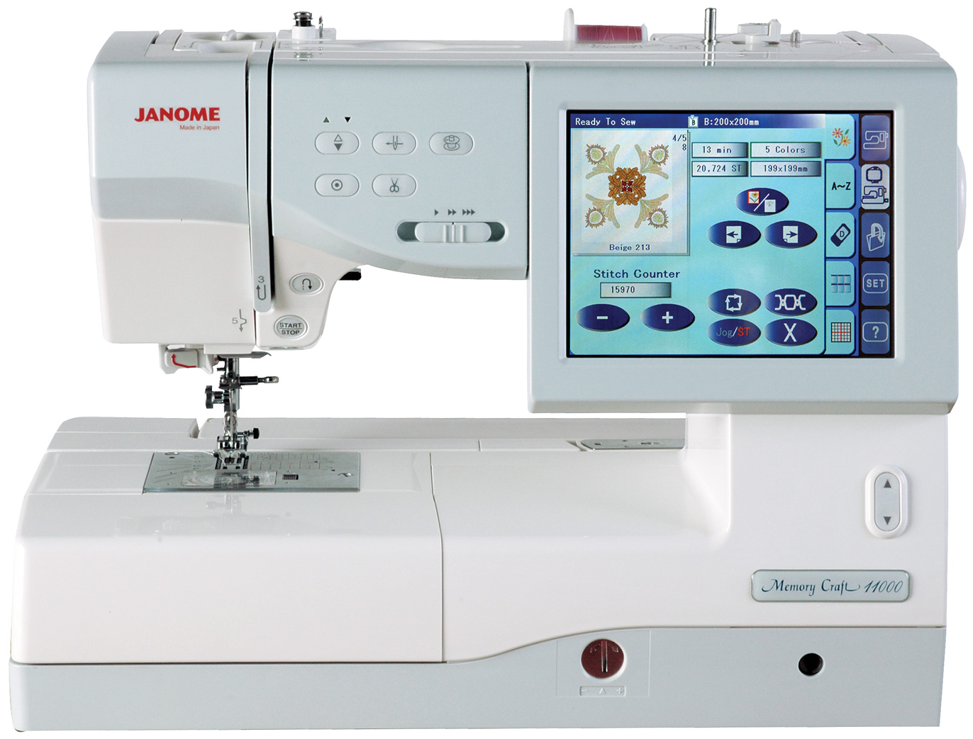 Janome memory craft fs embroidery and sewing machine