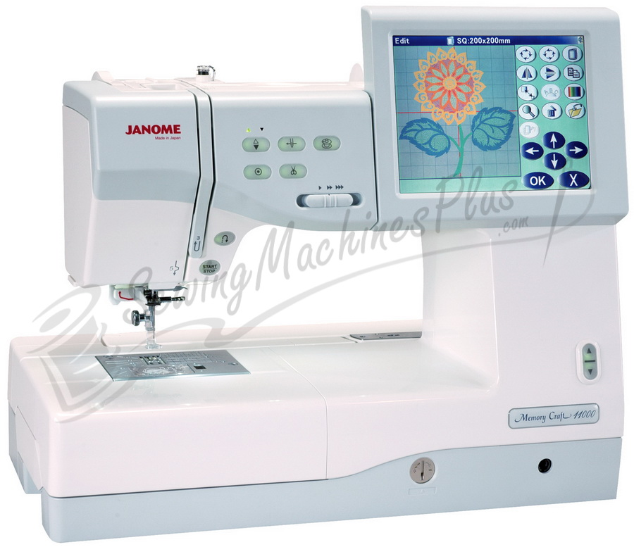 Janome Upgraded Memory Craft 11000 Embroidery Sewing Machine