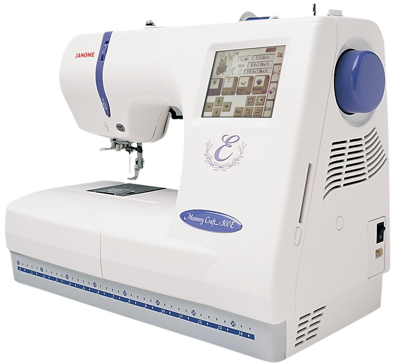 Janome memory craft e mc embroidery machine w