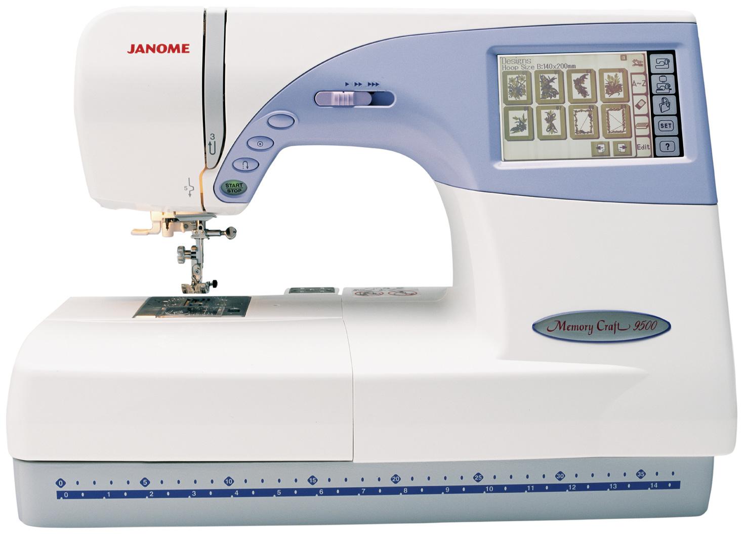 Janome memory craft 9000 - Janome Memory Craft 9500 Fs Computerized Embroidery Sewing Machine