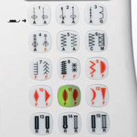 Direct Stitch Selection Buttons.