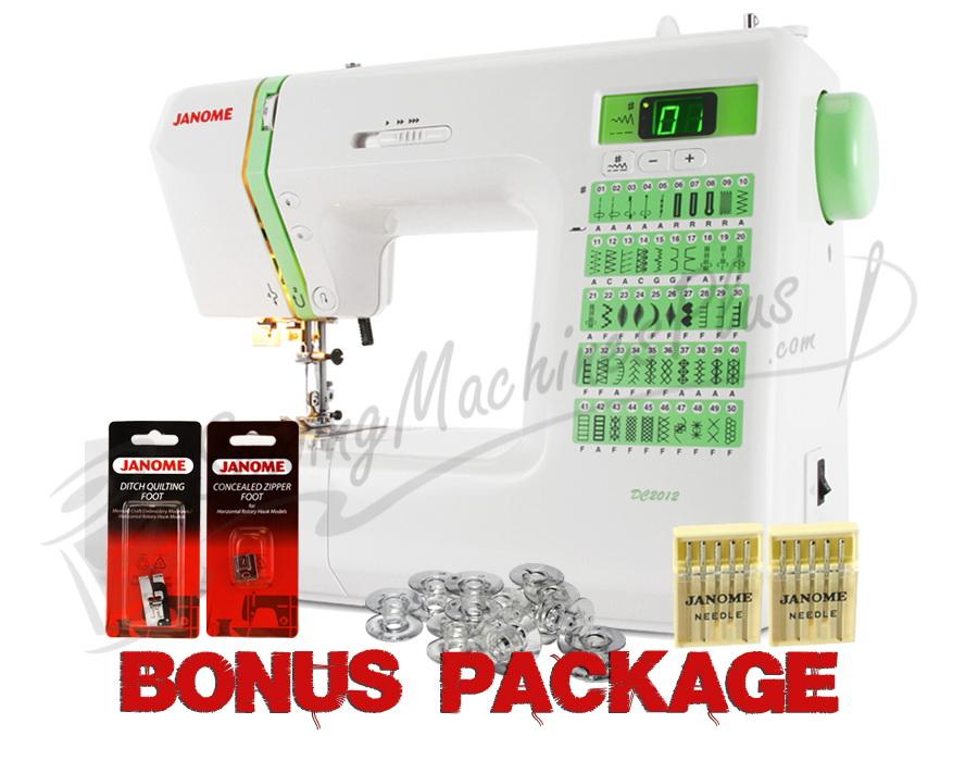 Janome DC2012 Computerized Sewing Machine w/ FREE BONUS