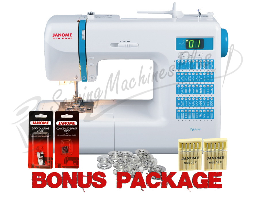 Janome DC2013 Computerized Sewing Machine w/ FREE BONUS Package!