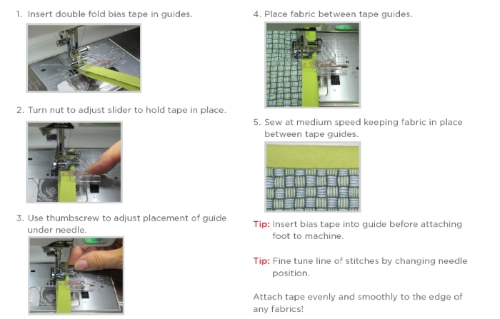 Janome Taping Guide Foot for 9mm Models - 202310008