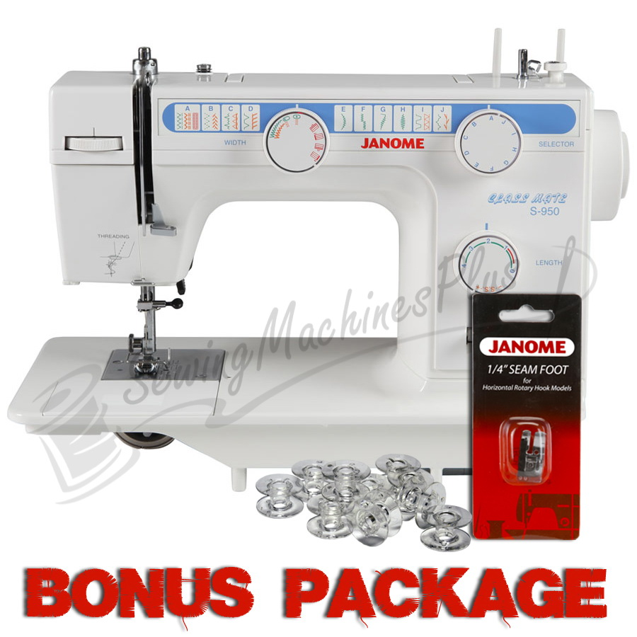 Janome Classmate S-950 Sewing Machine & FREE BONUS