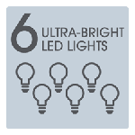 6 Ultra Bright LED Lights