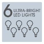 6 Ultra Bright LED Lights