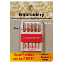 Klasse Embroidery Needles Size 75/11 - Buy 2 Get 1 FREE