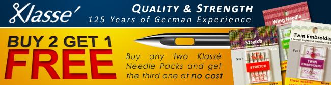 Klasse Serger Needles Type A 16x231, DBx1, 2053 Size 80//12