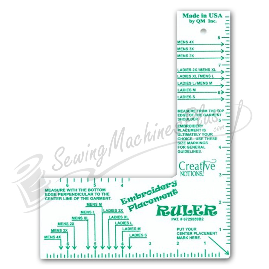 Accomplished image within printable embroidery placement ruler