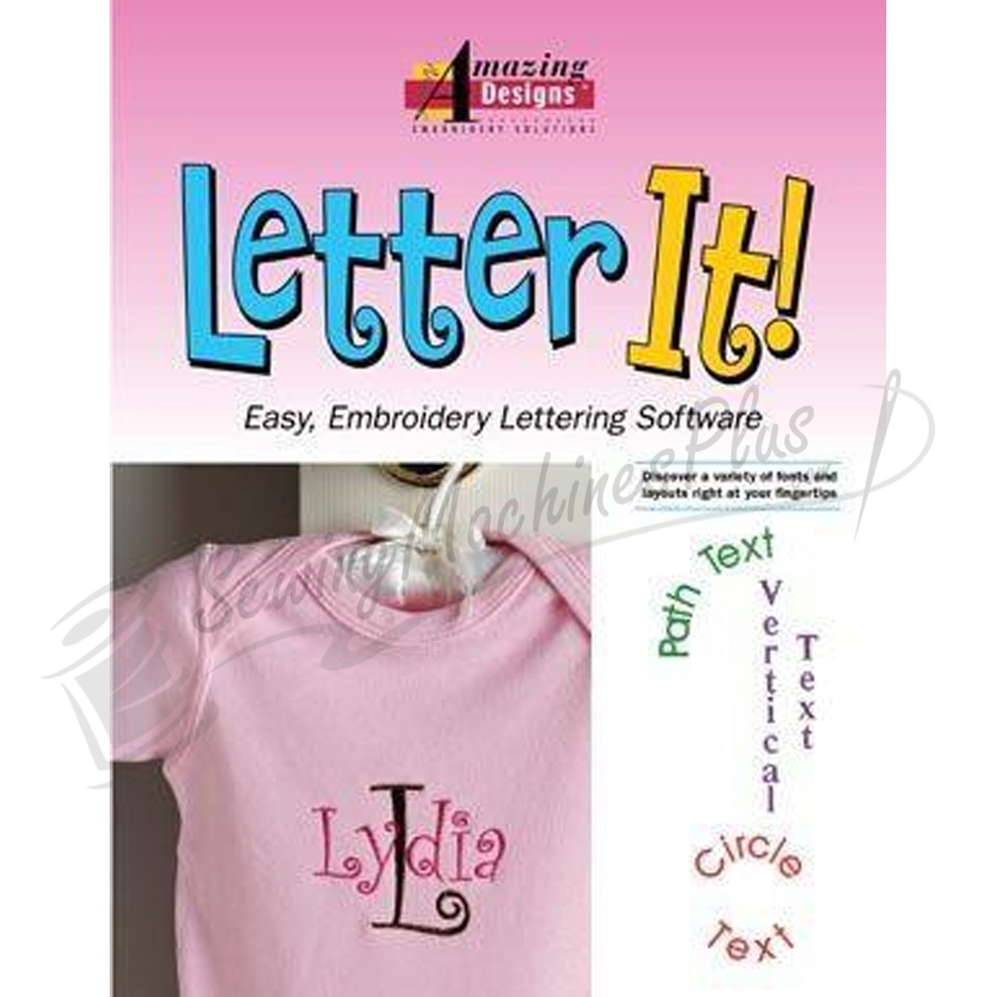 Letter It Amazing Designs Embroidery Software