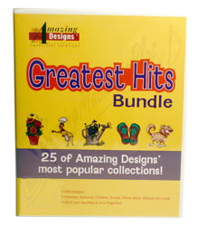 Amazing Designs Greatest Hits Bundle Machine Embroidery Designs