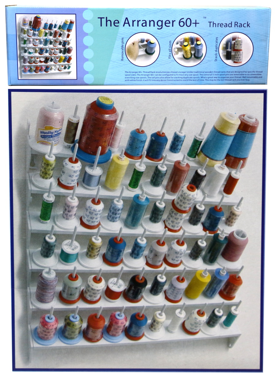 Hemline Extra Large Clear Thread Organizer Holds Up to 80 Spools