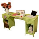 Photo of Arrow Olivia Sewing Cabinet in Pistachio Model 1004 from Heirloom Sewing Supply