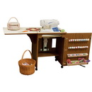 Photo of Arrow 98500 Sewnatra Compact Sewing Cabinet - oak finish from Heirloom Sewing Supply