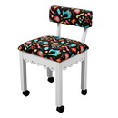 Arrow Sewing Chair Black Riley Blake fabric on White 7011B