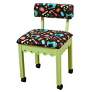 Arrow Sewing Chair Black Riley Blake fabric on Green 7014B