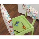 Arrow Sewing Chair White Riley Blake fabric on Green 7014W