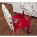 Arrow Sewing Chair White Riley Blake fabric on Red 7016W
