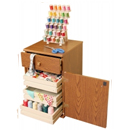 Photo of Arrow Suzi Storage Sidekick in Oak Model 800 from Heirloom Sewing Supply