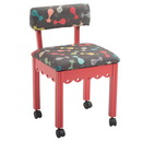 Arrow 6106 Red or 6109 Blue Sewing Chair - Cats Meow Print