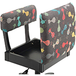 Arrow H6103 Cats Meow Hydraulic Sewing Swivel, Chair Underseat Storage