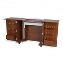Kangaroo Kabinets Bandicoot Cabinet Teak b8205 Studio Set With Kiwi Storage Cabinet And Arrow Hydraulic Sewing Chair