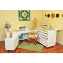 Photo of Kangaroo Kabinets Studio Combo WHITE Kangaroo & Joey Sewing Cabinets (KS-WHT) from Heirloom Sewing Supply