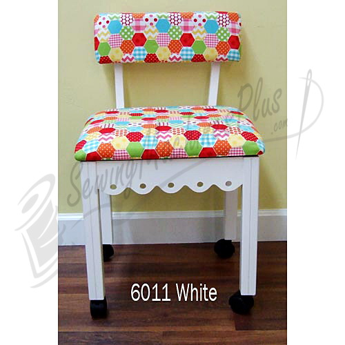 Astounding Arrow 6011 Riley Blake Hexi Motif Fabric Sewing Chair White Theyellowbook Wood Chair Design Ideas Theyellowbookinfo
