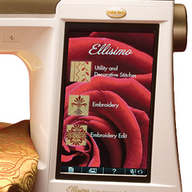 Baby Lock Ellisimo TruView touch screen