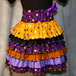 Ruffled Halloween Skirt