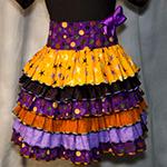 Ruffled Halloween Skirt