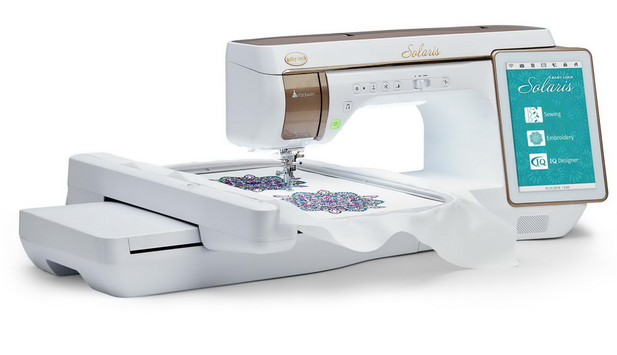 Baby Lock Solaris Top Of The Line Sewing Embroidery Quilting Machine Custom Quilting On Regular Sewing Machine
