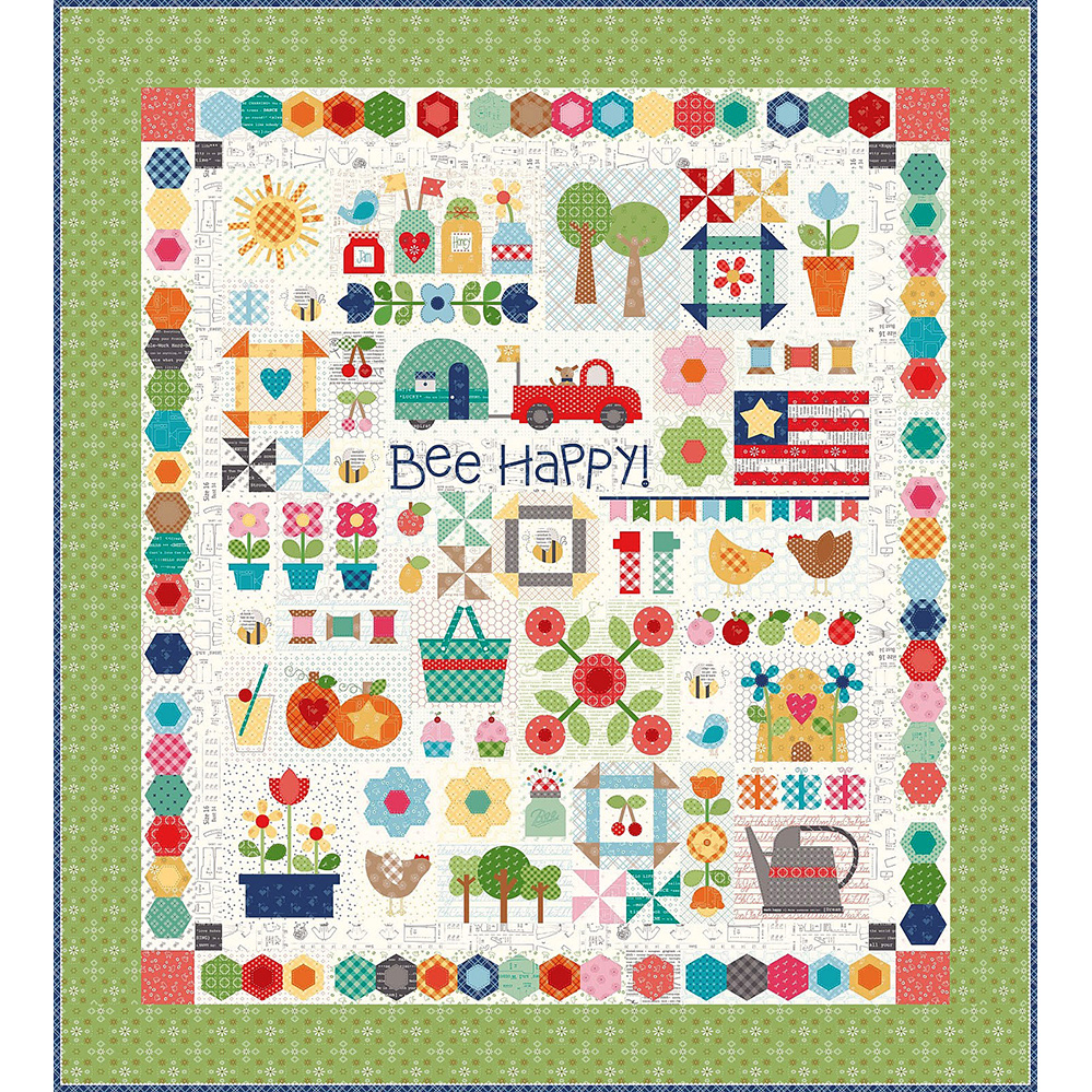 Riley Blake Designs Bee Happy Sew Simple Shapes Templates
