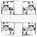Star Wars The Last Jedi 42pcs 5 in. Fabric Squares
