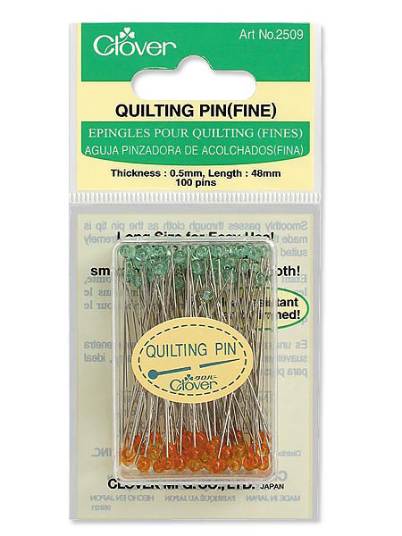Clover Quilting Pins (2509): Super long 1-7/8 inch