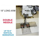 Consew Premier 2339RBLH-18 Double Needle Long Arm With Assembled Table and Servo Motor