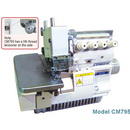 Consew Cm795-2 Two Needle, 5 Thread Overlock With Assembled Table And Servo Motor