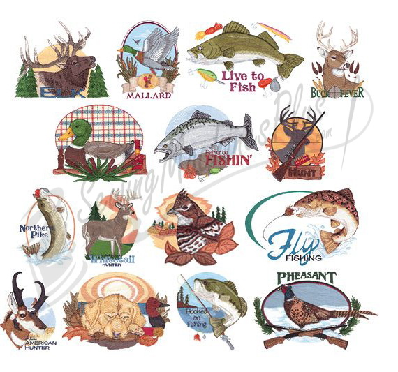 Collectibles Hunting Fishing Embroidery Designs 970223