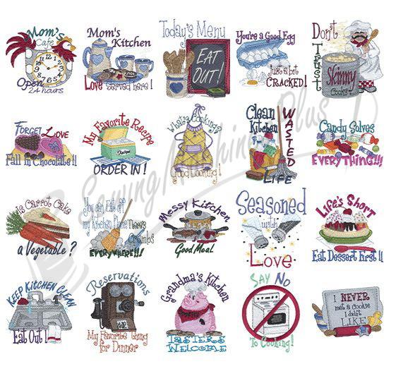 Merveilleux Dakota Collectibles Kitchen Talk Embroidery Designs   970253