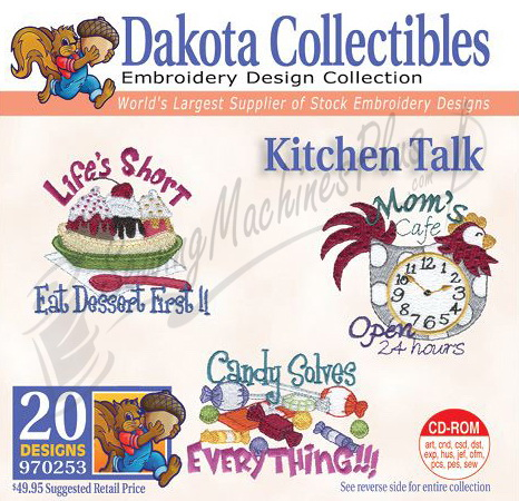 kitchen embroidery designs. Dakota Collectibles Kitchen Talk Embroidery Designs  970253