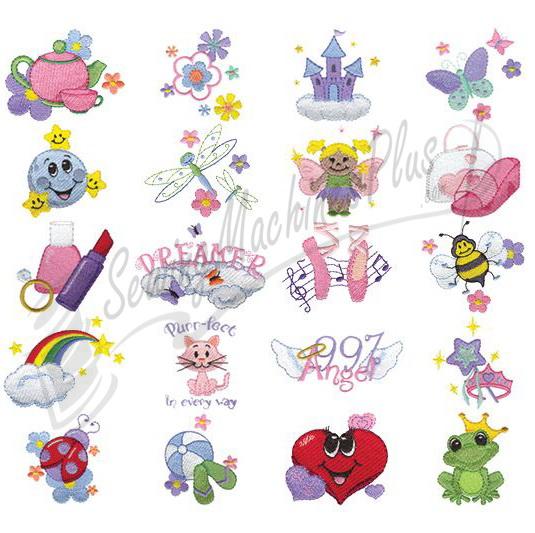 dakota collectibles fun for girls embroidery designs 970309